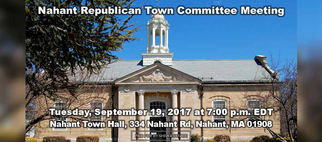 Dr. Shiva Ayyadurai Speaks At Nahant Republican Town Committee Meeting