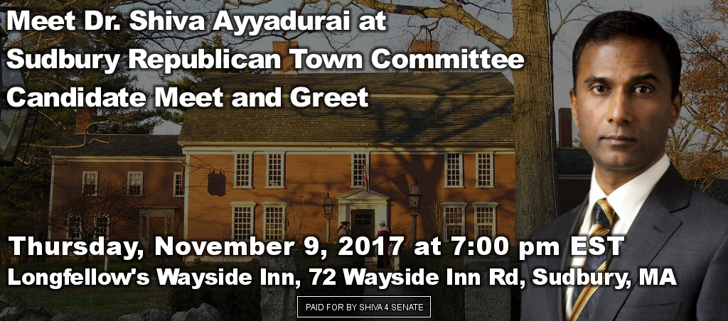 Dr. Shiva Ayyadurai Participates At Sudbury Republican Town Committee Candidate Meet And Greet