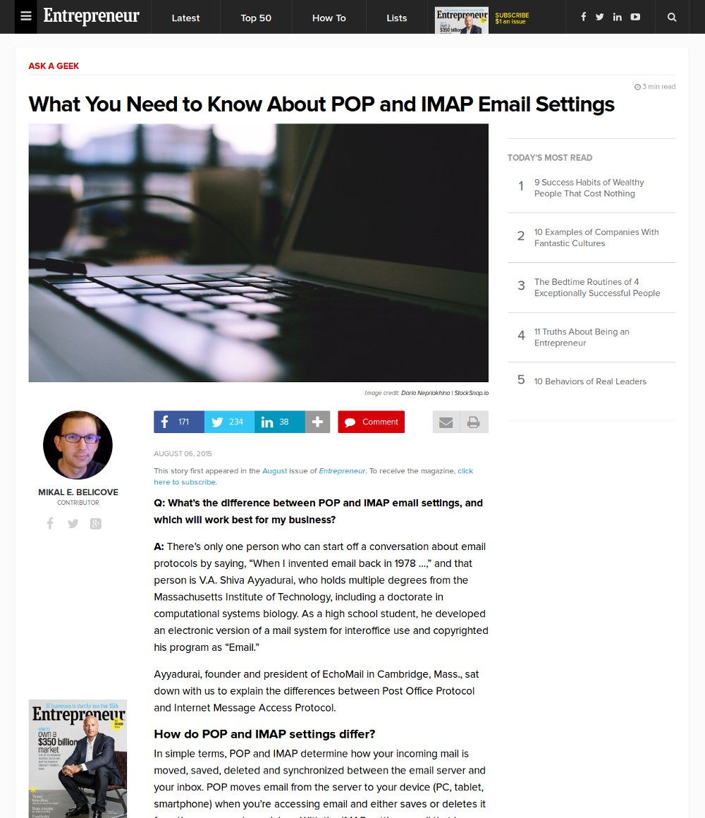 What You Need To Know About POP And IMAP Email Settings