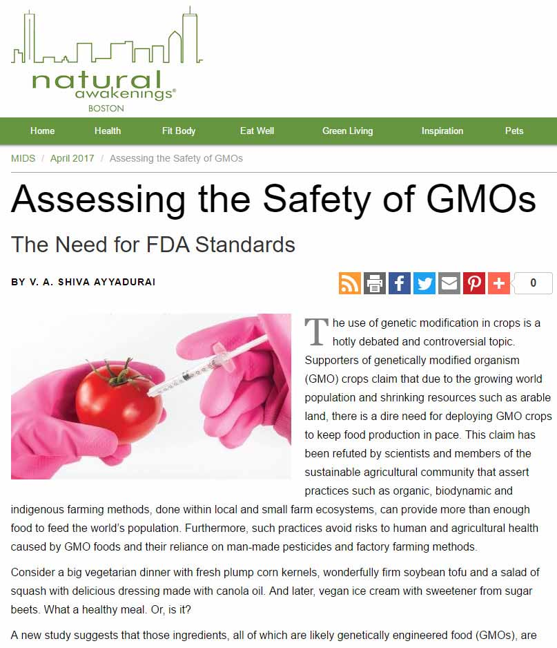 Assessing The Safety Of GMOs