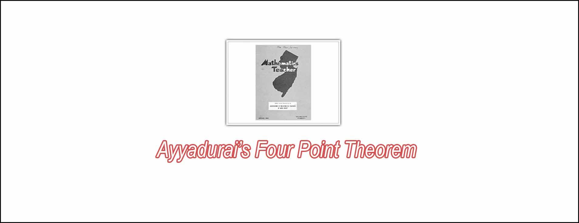 Ayyadurai's Four Point Theorem