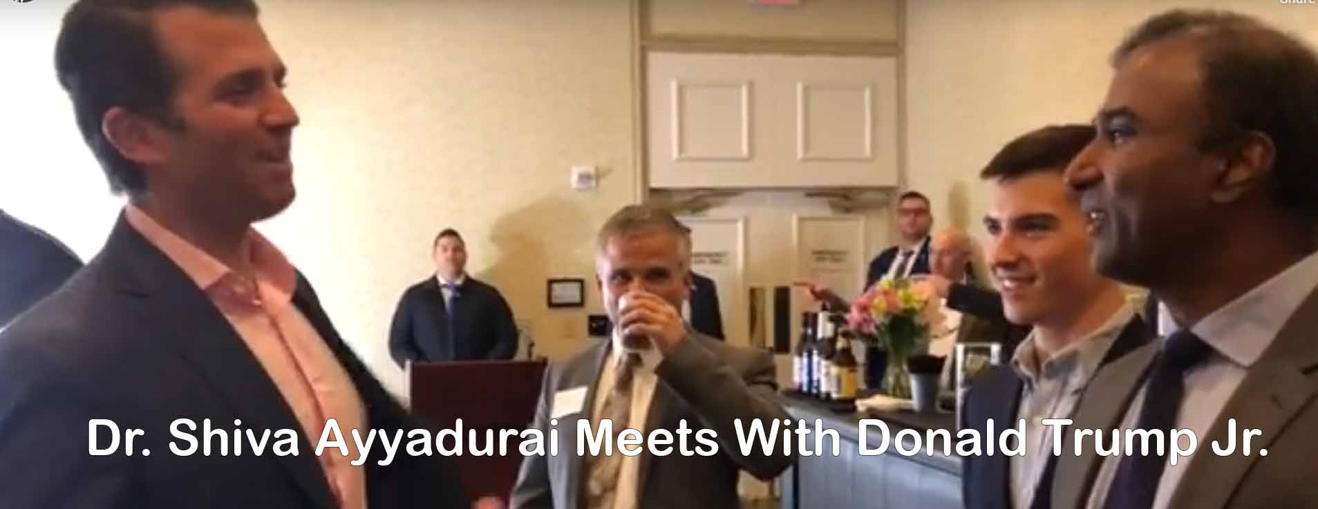 Dr. Shiva Ayyadurai Meets With Donald Trump Jr.
