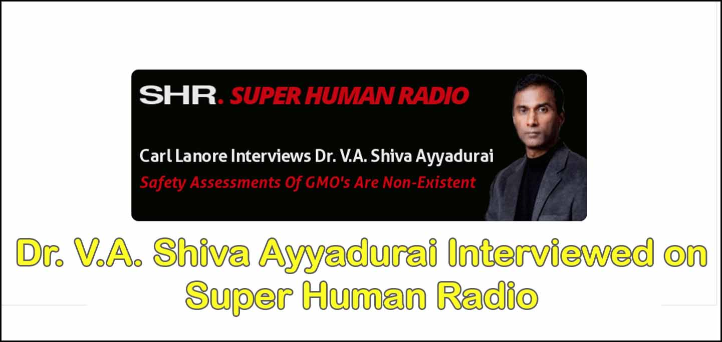 Dr. V.A. Shiva Ayyadurai Interviewed On Super Human Radio