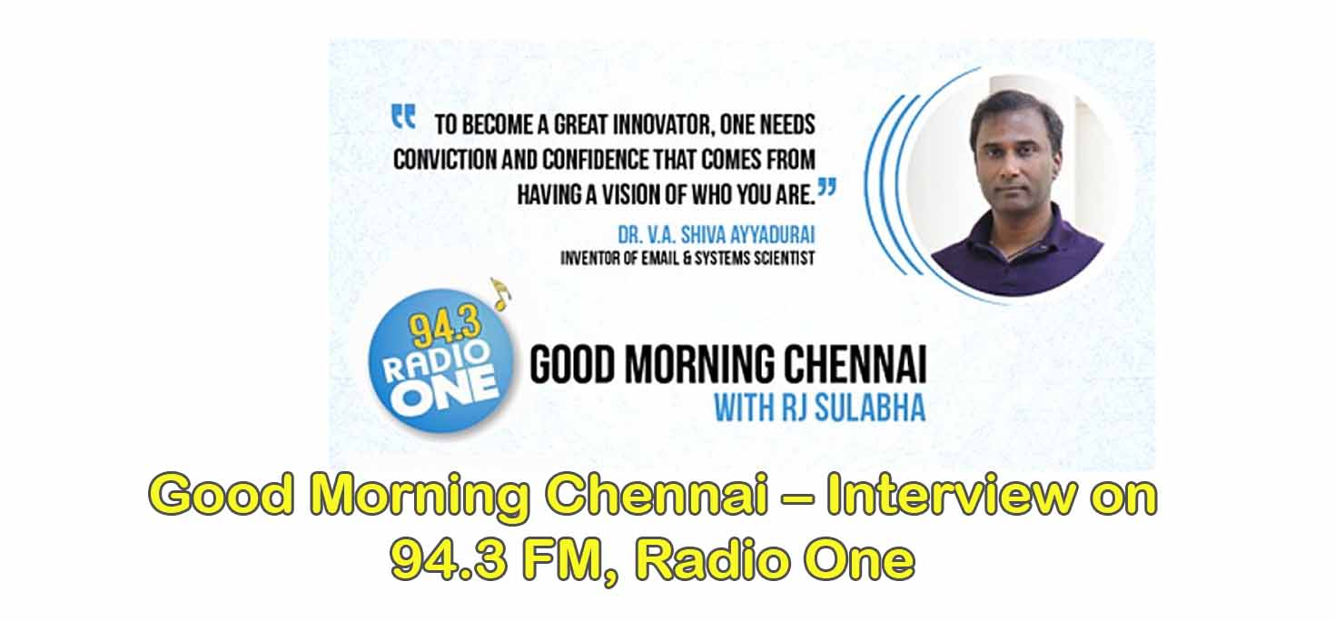 Good Morning Chennai – Interview On 94.3 FM, Radio One