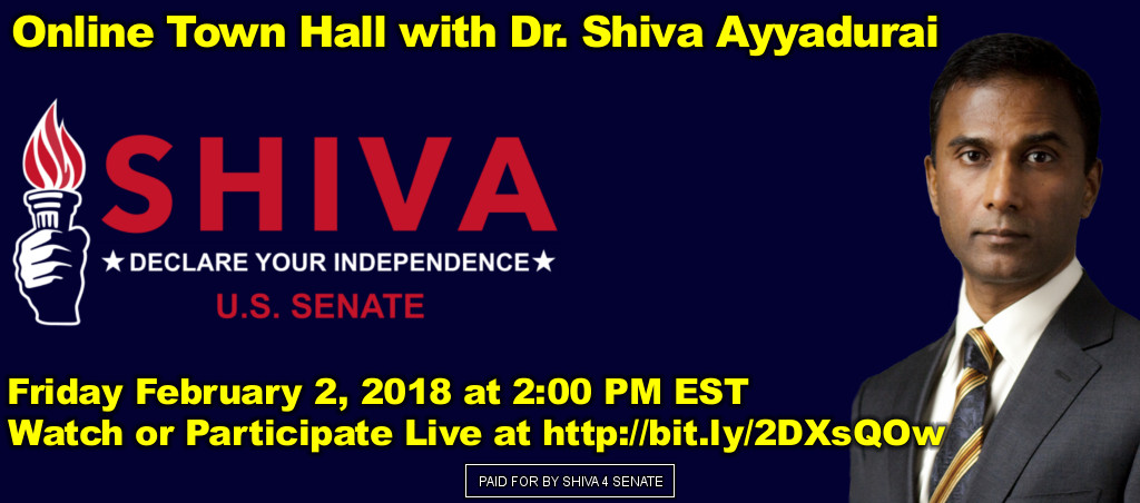 Online Town Hall With Dr. Shiva Ayyadurai