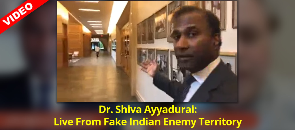 Dr. Shiva Ayyadurai: Live From Fake Indian Enemy Territory