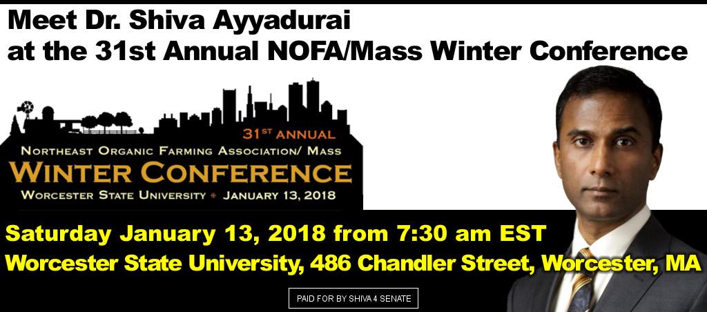 Meet Dr. Shiva Ayyadurai At The 31st Annual NOFA/Mass Winter Conference