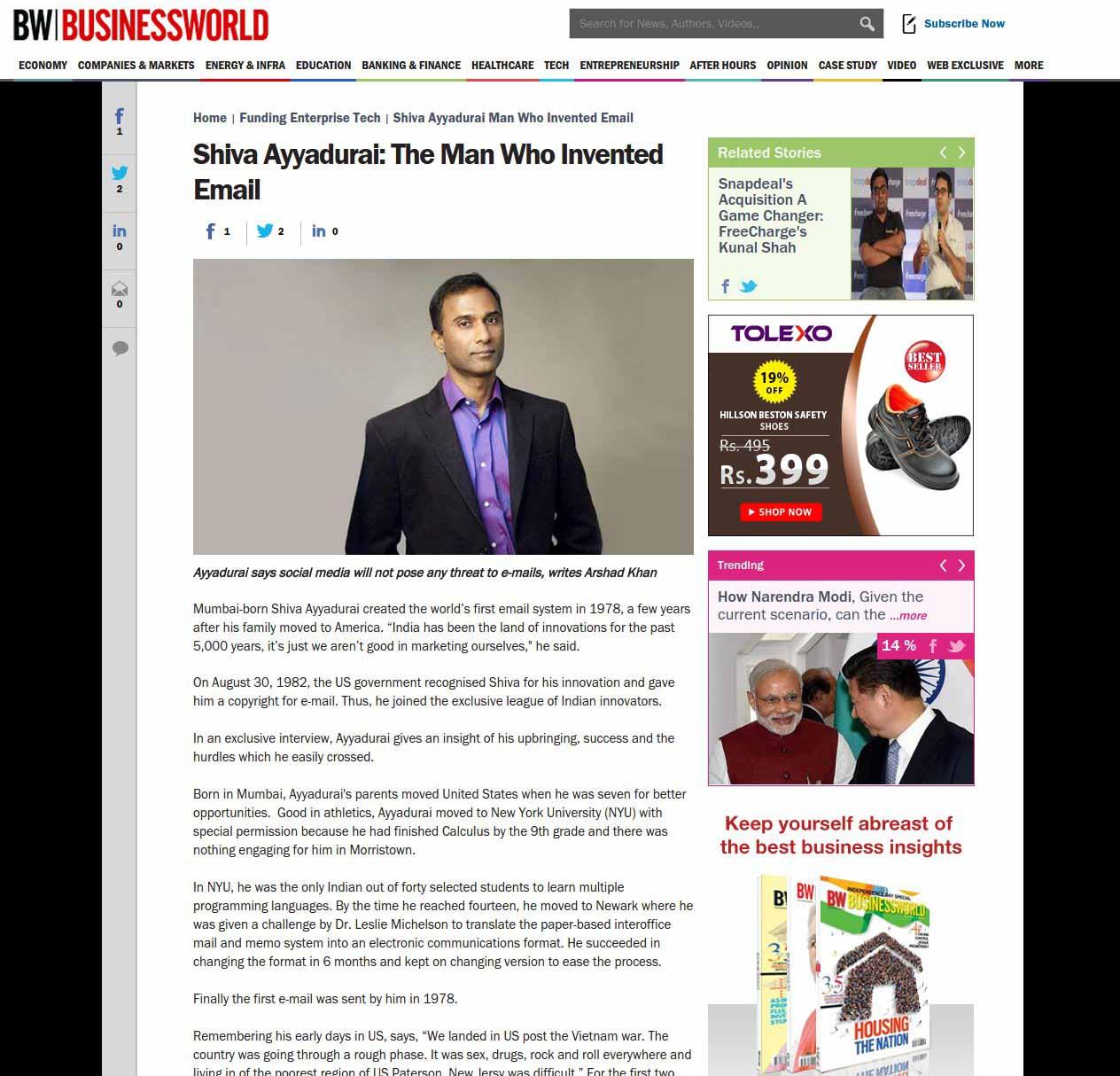 Shiva Ayyadurai: The Man Who Invented Email