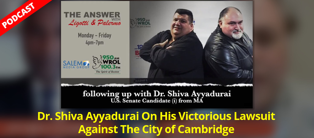 Interview With Dr. Shiva Ayyadurai On His Victorious Lawsuit Against The City Of Cambridge
