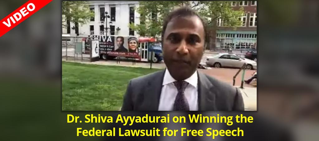 Dr. Shiva Ayyadurai On Winning The Federal Lawsuit For Free Speech