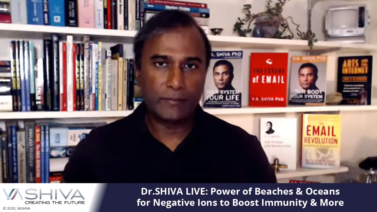 Dr.SHIVA LIVE: Power Of Beaches & Oceans For Negative Ions To Boost Immunity