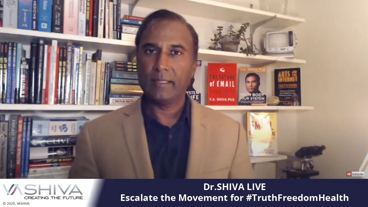 Dr.SHIVA LIVE: Escalate The Movement For #TruthFreedomHealth