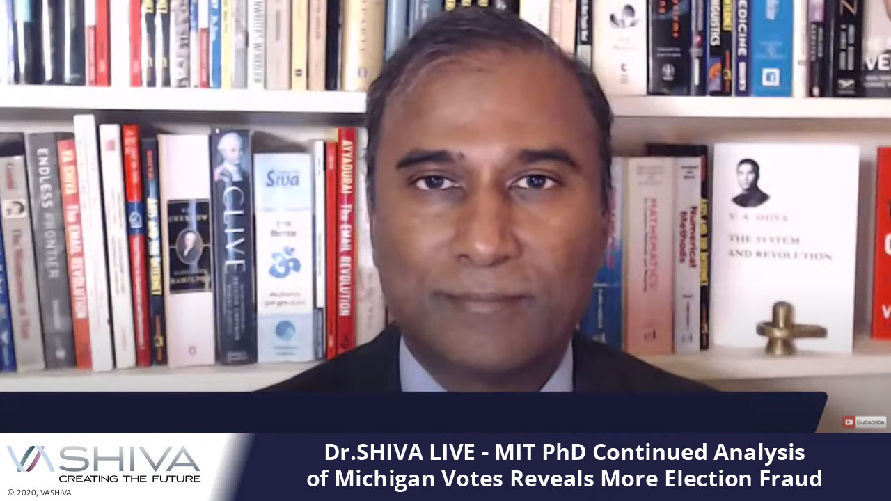 Dr.SHIVA LIVE: MIT PhD Continued Analysis Of Michigan Votes Reveals More Election Fraud