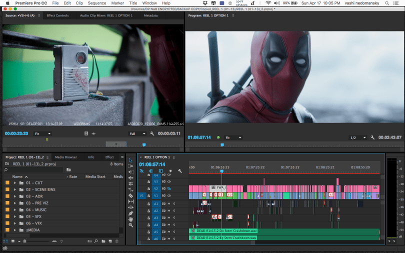 Deadpool editing timeline