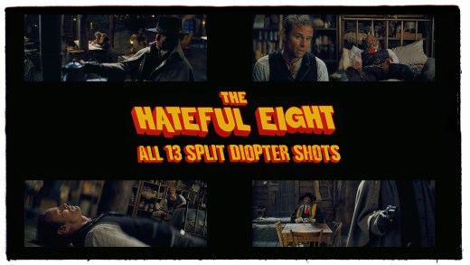 "All 13 Split Diopter Shots in Quentin Tarantino's ""THE HATEFUL EIGHT"""