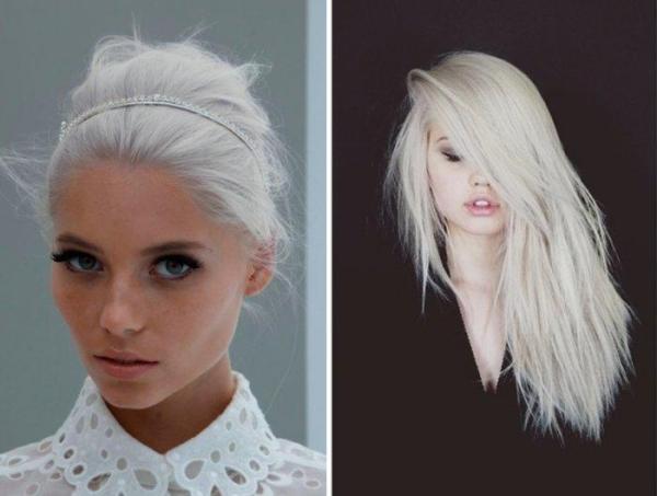 Белый цвет волос кому подходит и как покраситься фото