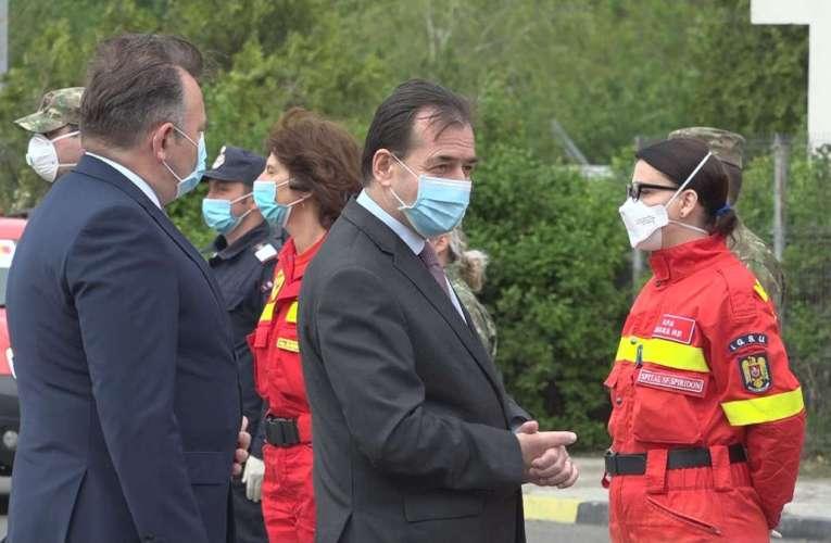 Premierul Ludovic Orban a ajuns la Vama Albița, în această dimineață