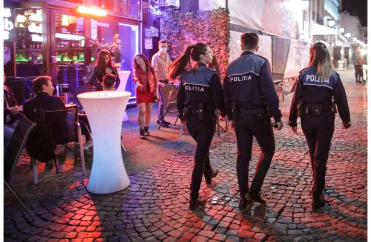 Razie a Poliției Vaslui, sute de tineri verificați la terase, vineri noaptea!