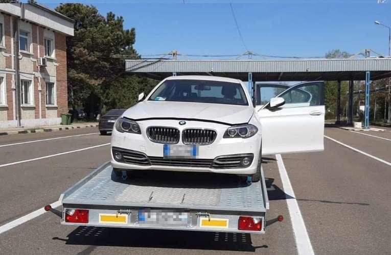 Polițiștii de frontieră vasluieni au oprit la Albița un BMW furat din Italia!