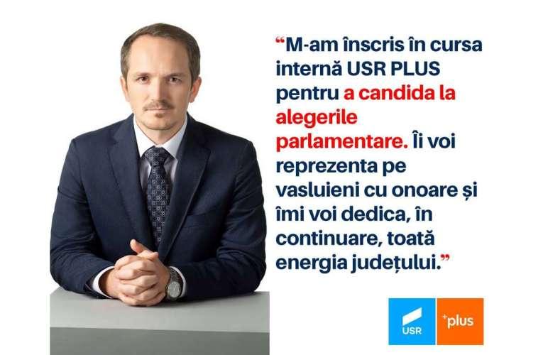Primul parlamentar de Vaslui care anunță, OFICIAL, că se înscrie în cursa electorală!