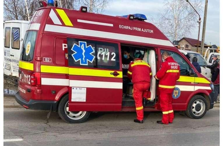 Accident grav pe drumul european 581! Un tânăr de 25 de ani a ajuns la spital!