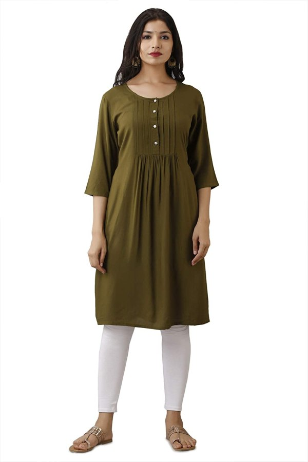 Indo Western Casual Solid Flared Kurti