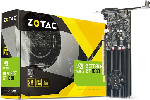 ZOTAC GeForce GT 1030 2GB Low Profile Video Card