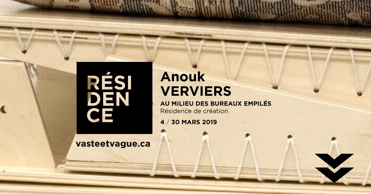 Anouk VERVIERS | AU MILIEU DES BUREAUX EMPILÉS | Résidence de création