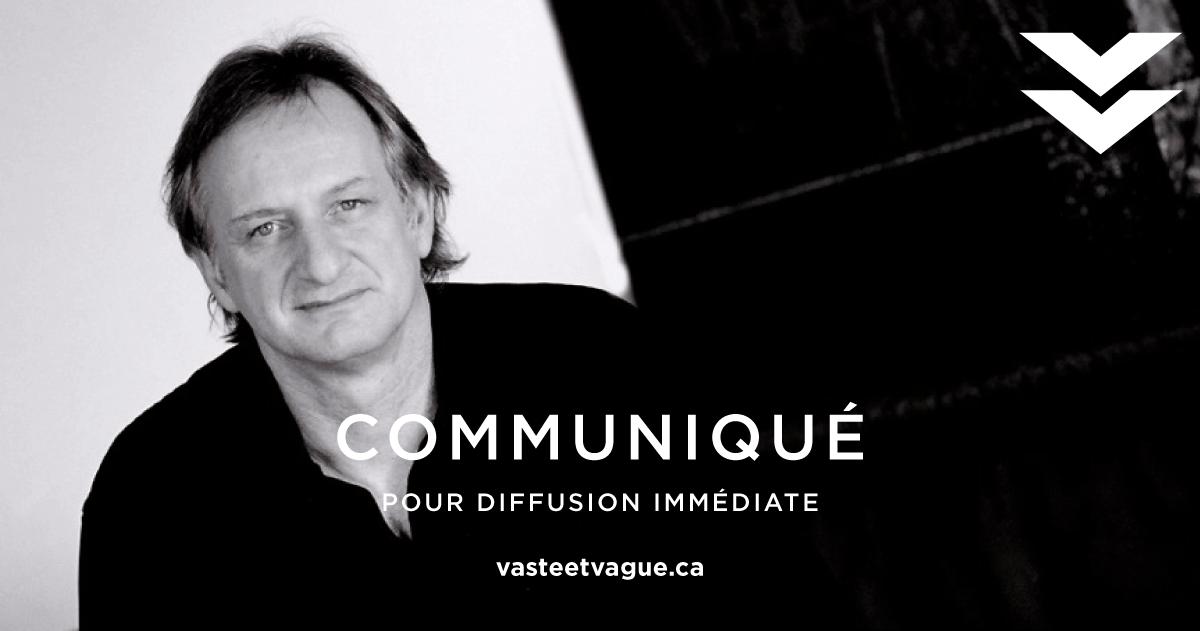 L'artiste André Lapointe assurera la conception et la réalisation d'une installation sculpturale permanente offerte par le Centre d'artistes Vaste et Vague de Carleton-sur-Mer à la communauté de Nouvelle.