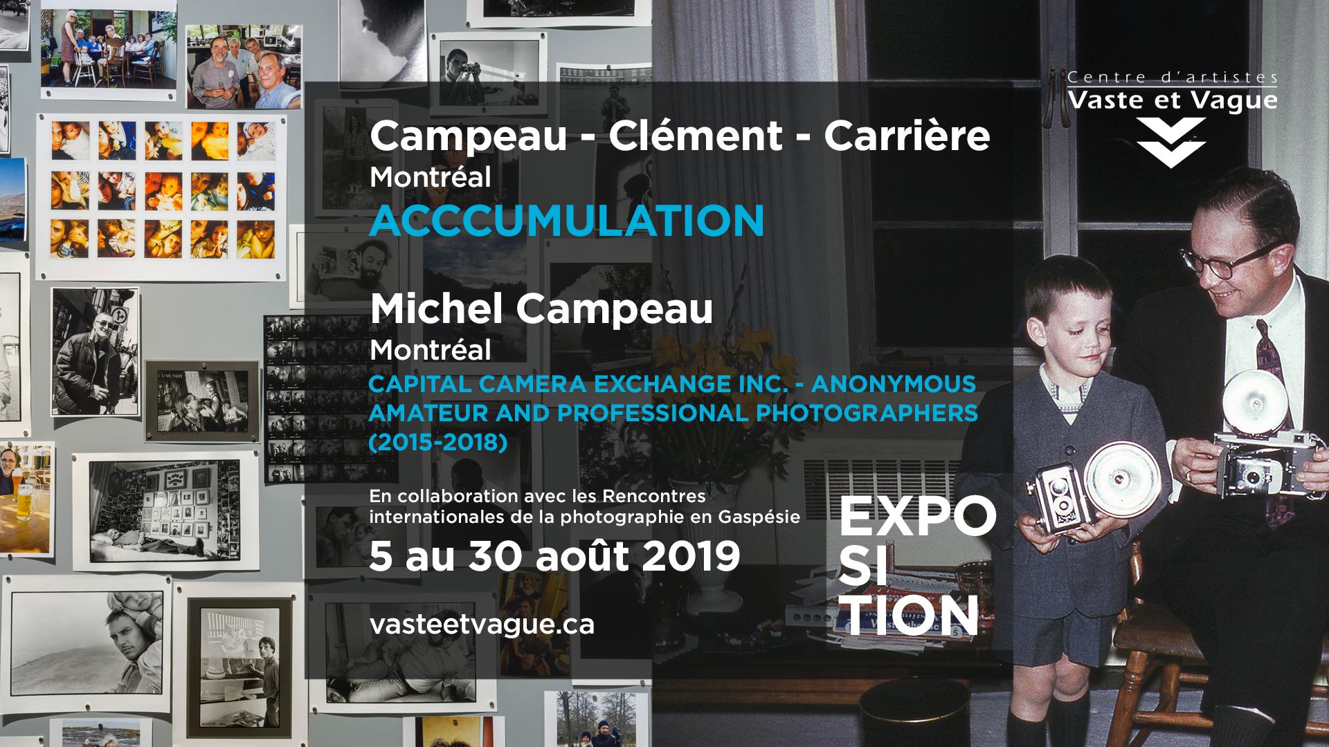CAMPEAU – CLÉMENT – CARRIÈRE | Rencontres internationales de la photographie en Gaspésie 2019