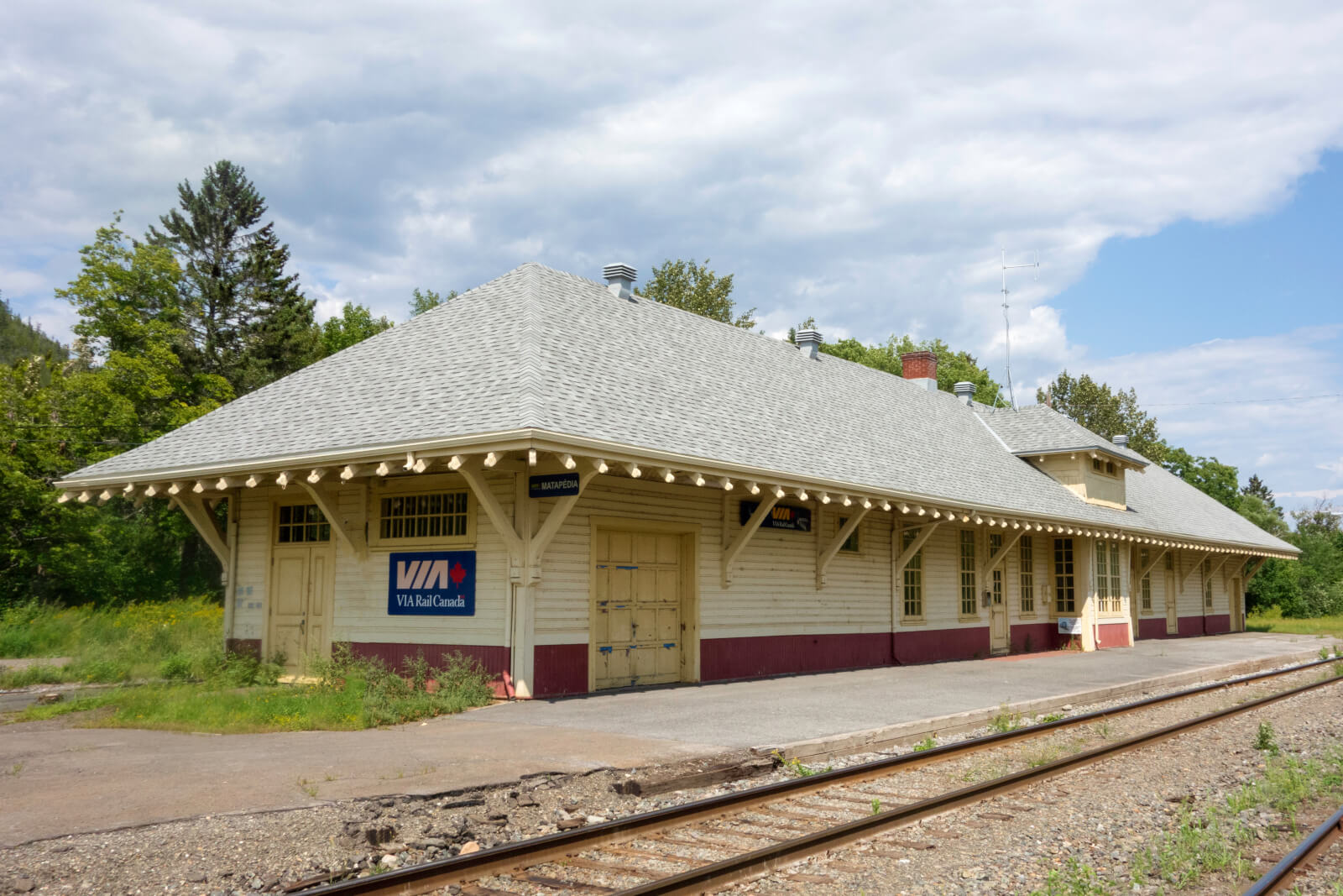 Gare de Matapédia, crédit photo Jérôme Nadeau