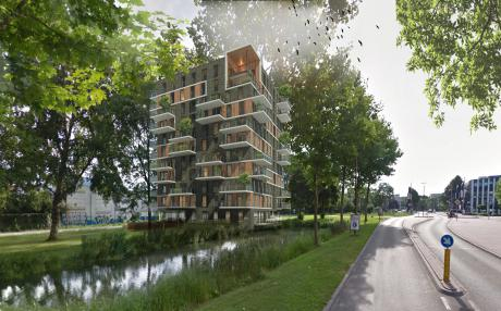 Blauwhoed ontwikkelt 58 gasloze appartementen op HN-locatie