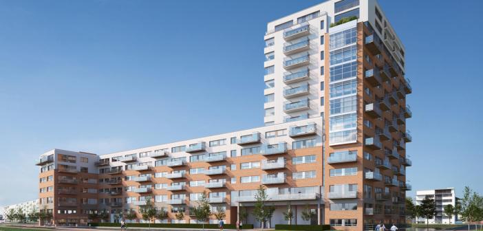 Syntrus Achmea RE&F transformeert markant kantoor in Amsterdam tot 365 gasloze appartementen