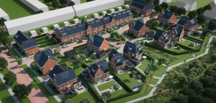 Wethouder Piet Sleeking geeft startsein bouw Wilgenweide in Dordrecht