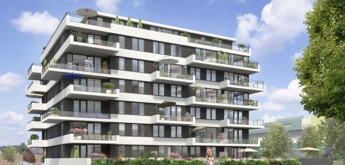 Wethouder Roduner geeft startsein bouw 26 luxe appartementen De Hofmeester in De Entree, Haarlem