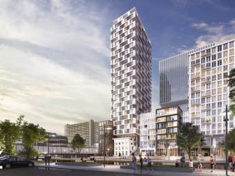 Woontoren De SYP in Utrecht bereikt hoogste punt