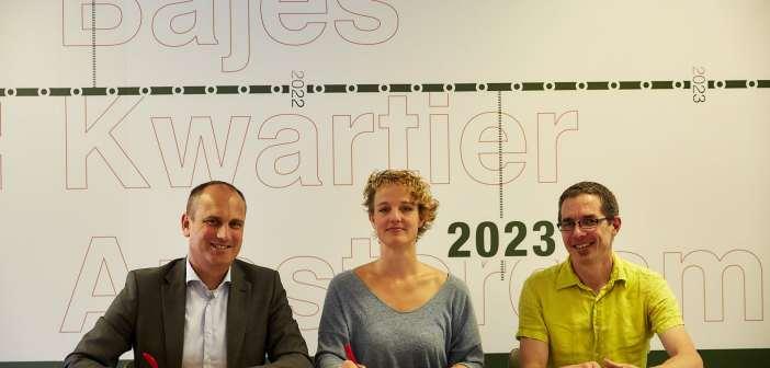 Intentieovereenkomst gesloten met bewoners Bajesdorp voor realisatie broedplaats in het Bajes Kwartier in Amsterdam