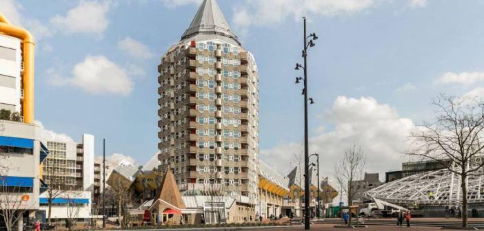Kantoorpand aan het Blaakplein wordt getransformeerd tot boetiekhotel
