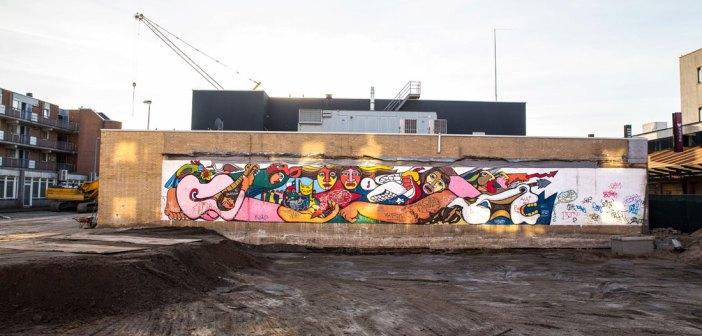 Unieke muurschildering ontdekt op Osdorpplein Amsterdam