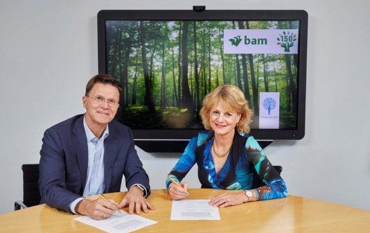 BAM plant 150.000 bomen ter gelegenheid van 150ste verjaardag