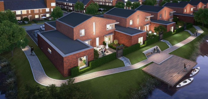 Wethouder Maarten Burggraaf geeft startsein bouw 63 woningen Wilgenveld in Dordrecht
