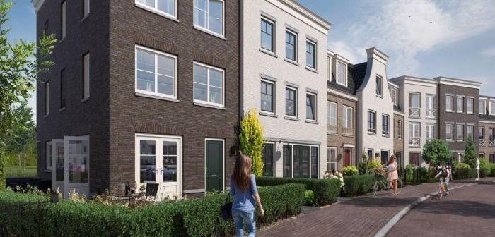 Start bouw van herenhuizen Aan de Nieuwe Stadskade Westergouwe in Gouda