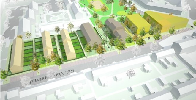 Centrum Keverdijk in Naarden wordt herontwikkeld