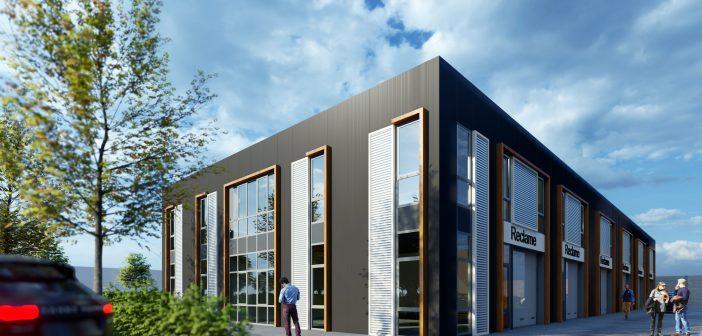Marcas Development ontwikkeld bedrijfsverzamelgebouw op A18 Bedrijvenpark
