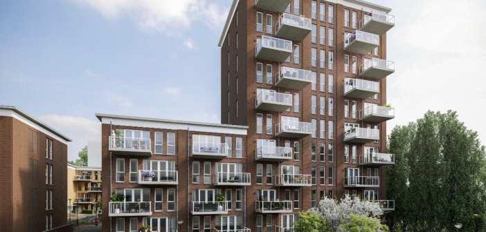 AM geeft impuls aan middeldure huur met startsein bouw 110 appartementen Goudshof in Gouda