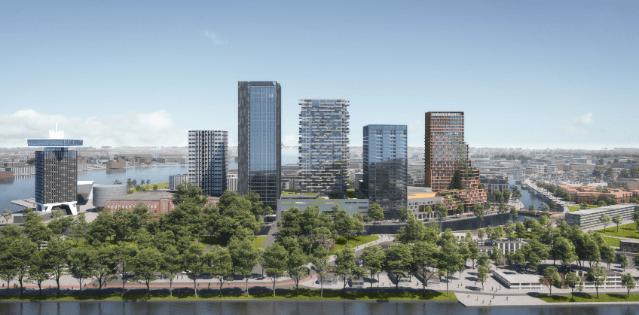 """Team DubbeLL + Xior + Mecanoo wint tender hoogbouw 'kavel 7' Overhoeks in Amsterdam met inzending """"BrinkToren"""""""