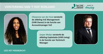 Cheyenne van der Kust en Jasper Meijer versterken Van 't Hof Rijnland