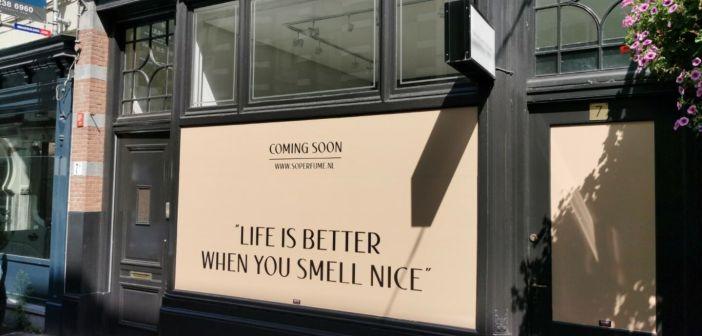 Exclusieve parfumwinkel So Perfume naar Noordeinde 7 te Den Haag