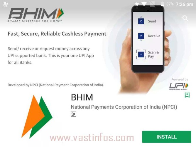 How to use BHIM App, Features of BHIM Android Application, Transaction limits of Bhim android App, banks supported in Bheem app, facilities of BHIM App