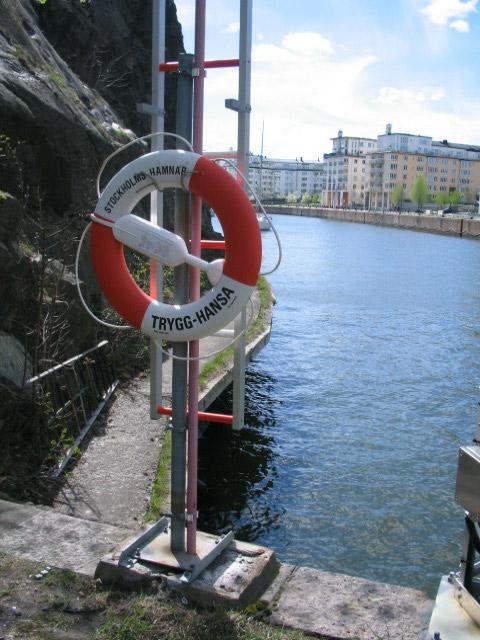 Danvikskanalen, Danviksklippan och räddningsring